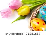 Composition Of Tulip Bouquet...