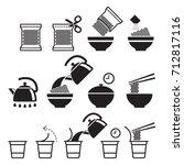 instant noodles icons set.... | Shutterstock .eps vector #712817116