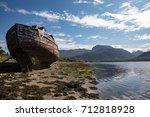 shipwreck on the loch linnhe... | Shutterstock . vector #712818928