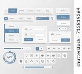 interface button set  | Shutterstock .eps vector #712819264