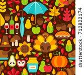 thanksgiving holiday seamless... | Shutterstock .eps vector #712822174