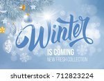 unusual calligraphic... | Shutterstock .eps vector #712823224