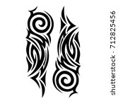 tattoos ideas designs   tribal... | Shutterstock .eps vector #712825456