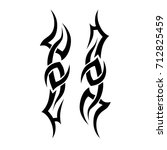 tattoo tribal vector design.... | Shutterstock .eps vector #712825459