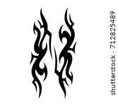 tattoo tribal vector design.... | Shutterstock .eps vector #712825489