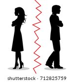 silhouettes of a heterosexual... | Shutterstock .eps vector #712825759