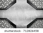 stained metal design with... | Shutterstock . vector #712826458