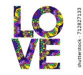 beautiful ornate colorful word '... | Shutterstock .eps vector #712827133