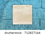 retro wood on stone background | Shutterstock . vector #712827166
