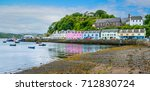 the colorful portree  main town ... | Shutterstock . vector #712830724