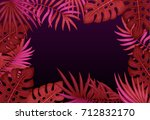 exotic tropical jungle floral... | Shutterstock . vector #712832170