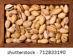 background from salty roasted... | Shutterstock . vector #712833190