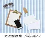 flat lay of miscellaneous... | Shutterstock . vector #712838140