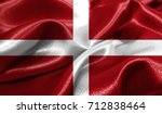 realistic flag of sovereign... | Shutterstock . vector #712838464