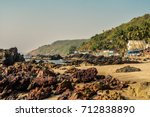 beauty arambol beach landscape  ... | Shutterstock . vector #712838890