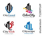 city logo template design... | Shutterstock .eps vector #712839169