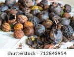 walnuts immediately after... | Shutterstock . vector #712843954