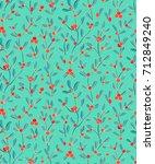 mistletoe  european mistletoe ... | Shutterstock .eps vector #712849240