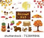 Autumn Vector Illustration Set