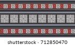 seamless vector striped pattern.... | Shutterstock .eps vector #712850470