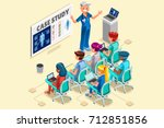 day hospital group of doctors... | Shutterstock .eps vector #712851856