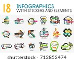 mega collection of vector... | Shutterstock .eps vector #712852474
