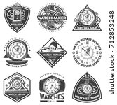 vintage watches repair service... | Shutterstock .eps vector #712853248