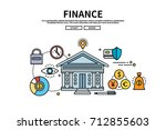 flat line vector editable... | Shutterstock .eps vector #712855603