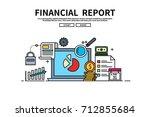 flat line vector editable... | Shutterstock .eps vector #712855684
