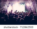 crowd in a concert | Shutterstock . vector #712862503