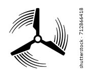 wind power plant propeller... | Shutterstock .eps vector #712866418