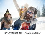 great weather for winter... | Shutterstock . vector #712866580