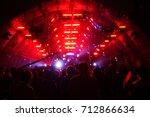 defocused entertainment concert ...   Shutterstock . vector #712866634