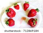 fresh organic natural red... | Shutterstock . vector #712869184