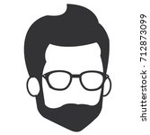 young man with beard avatar... | Shutterstock .eps vector #712873099
