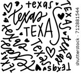 texas love | Shutterstock .eps vector #712881544