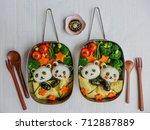 fun and delicious homemade... | Shutterstock . vector #712887889