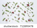 christmas or new year holiday... | Shutterstock . vector #712890478