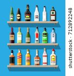 alcohol drinks collection.... | Shutterstock . vector #712892248