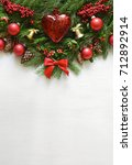 christmas or new year... | Shutterstock . vector #712892914