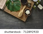 spa natural cosmetics  spa... | Shutterstock . vector #712892920