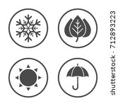 seasons icon vector design.... | Shutterstock .eps vector #712893223
