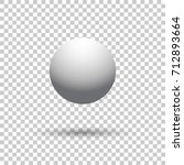 white ball  isolated object.... | Shutterstock .eps vector #712893664