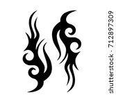 tattoo tribal vector design.... | Shutterstock .eps vector #712897309