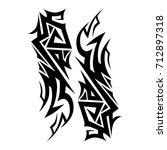 tribal tattoo art designs....   Shutterstock .eps vector #712897318