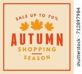 autumn sale badge. discount... | Shutterstock .eps vector #712897984