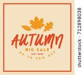autumn sale badge. discount... | Shutterstock .eps vector #712898038