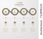 infographics design template... | Shutterstock .eps vector #712898110
