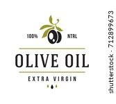 olives label on white... | Shutterstock .eps vector #712899673