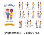 young men greeting ready to use ... | Shutterstock .eps vector #712899766